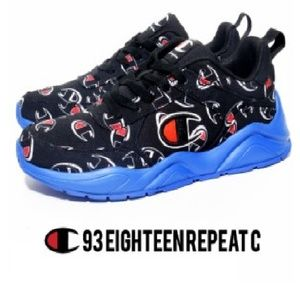 CHAMPION 93Eighteen Repeat Black Shoes Sneakers
